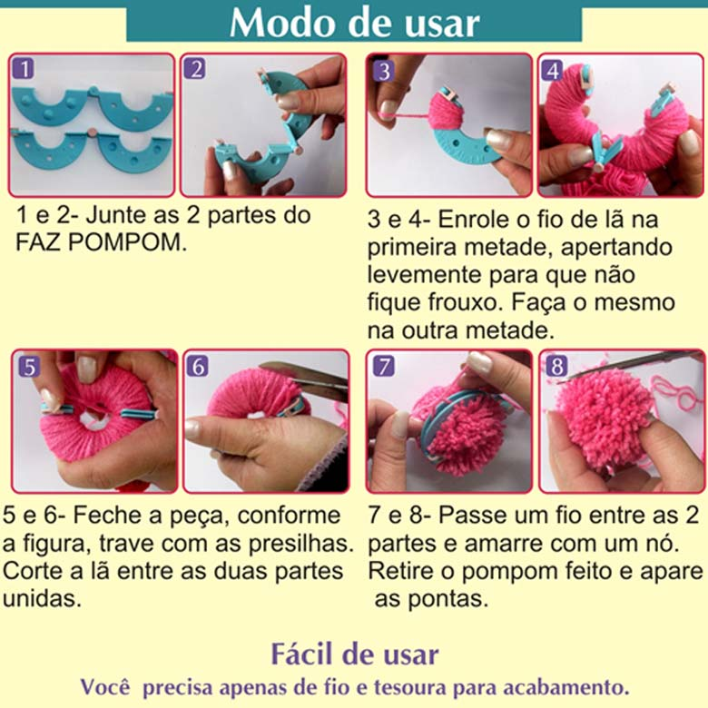 Kit Faz Pompom We Care About - Bazar Horizonte f505faf9e2a
