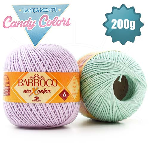 Barbante Barroco MaxColor Candy Colors nº06 200g