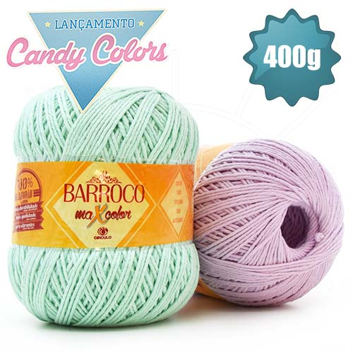 Barbante Barroco MaxColor Candy Colors nº06 400g
