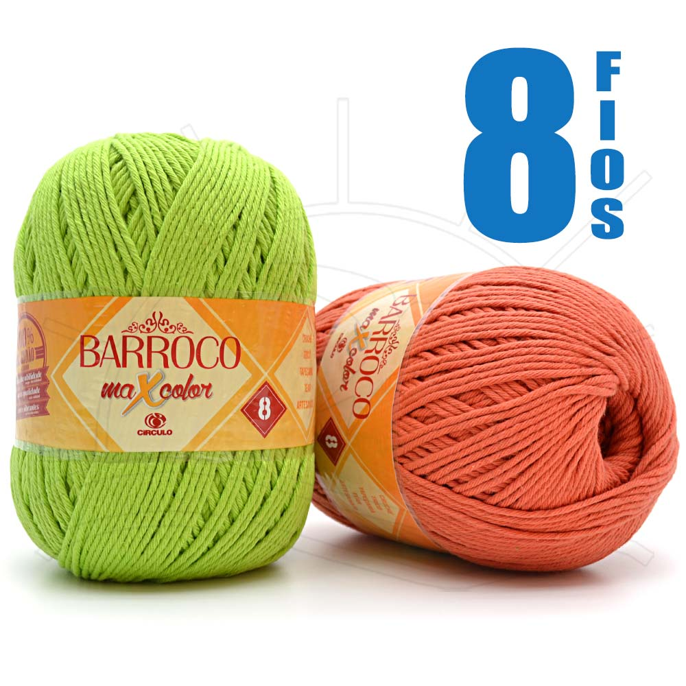 Barbante Barroco MaxColor nº08 400g
