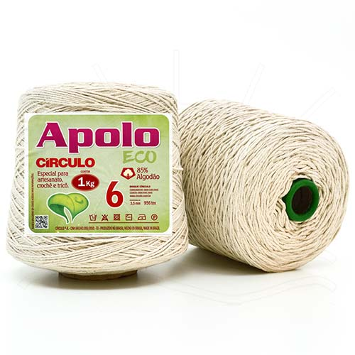 Barbante Apolo Cru 1,0Kg