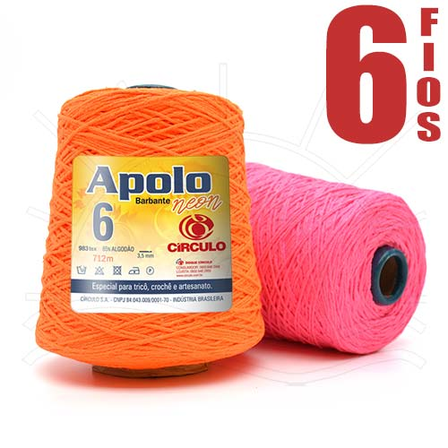 Barbante Apolo Neon nº06 600g