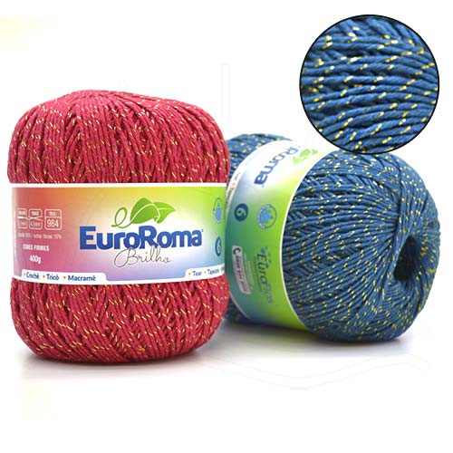 Barbante EuroRoma Brilho400g