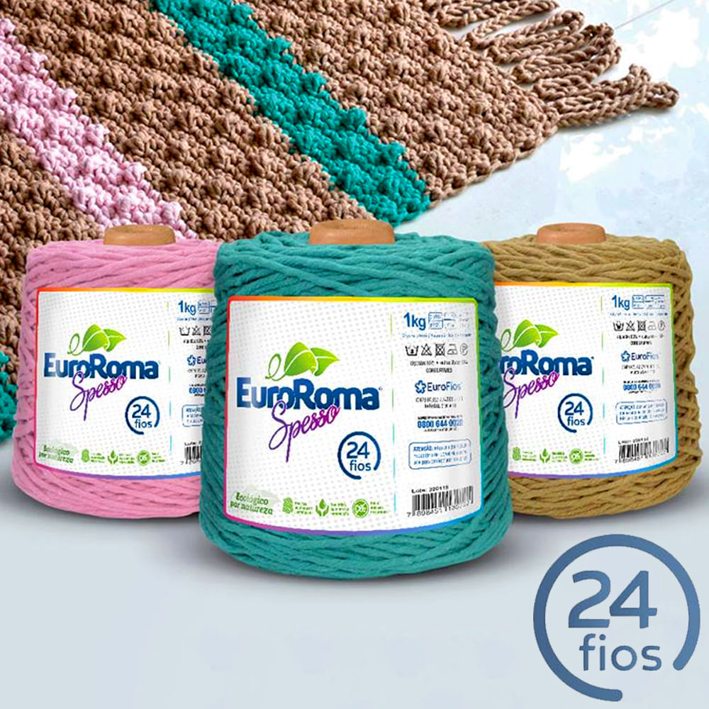 Barbante Spesso EuroRoma 24 Fios 1Kg