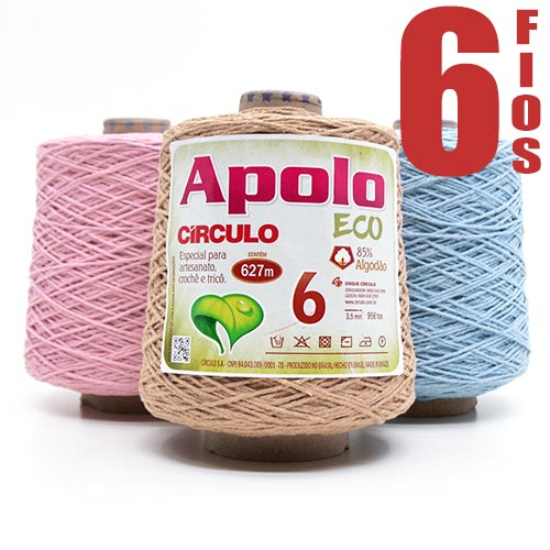 Barbante Apolo Eco nº06 600g