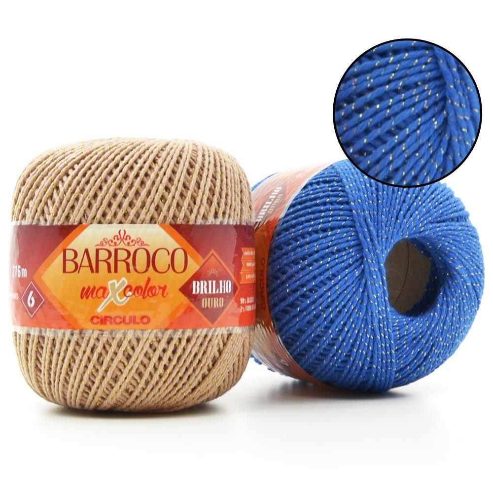 Barbante Barroco MaxColor Brilho Ouro nº06 200g