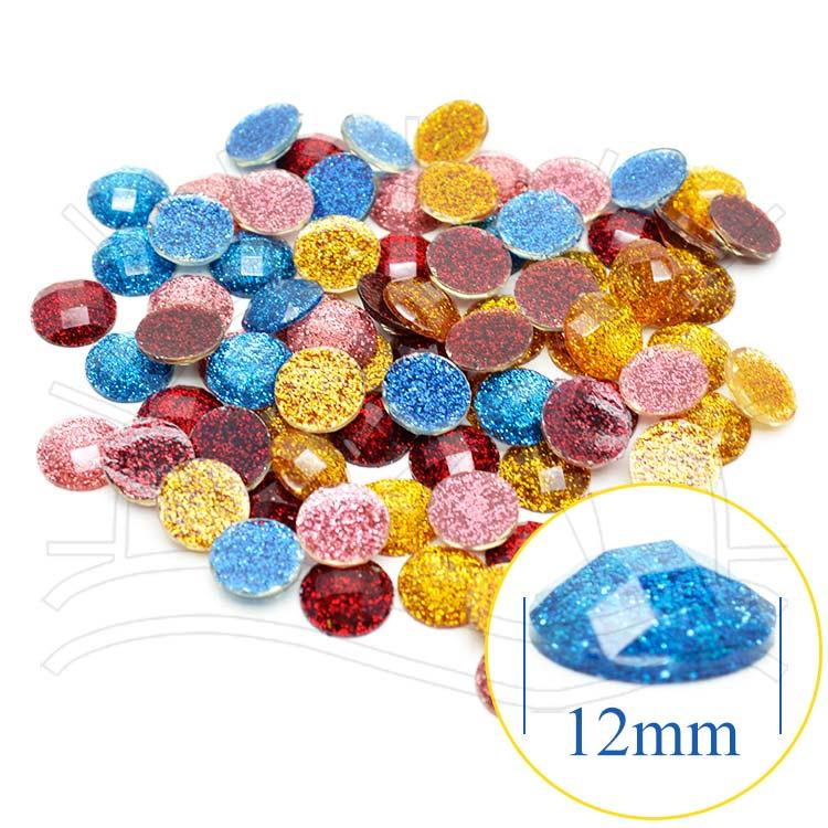 Chaton Redondo Glitter - 12mm