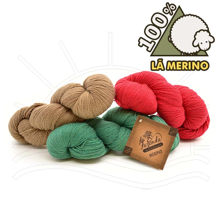Fio de Lã Merino Sock 4ply 100g - 100% Lã