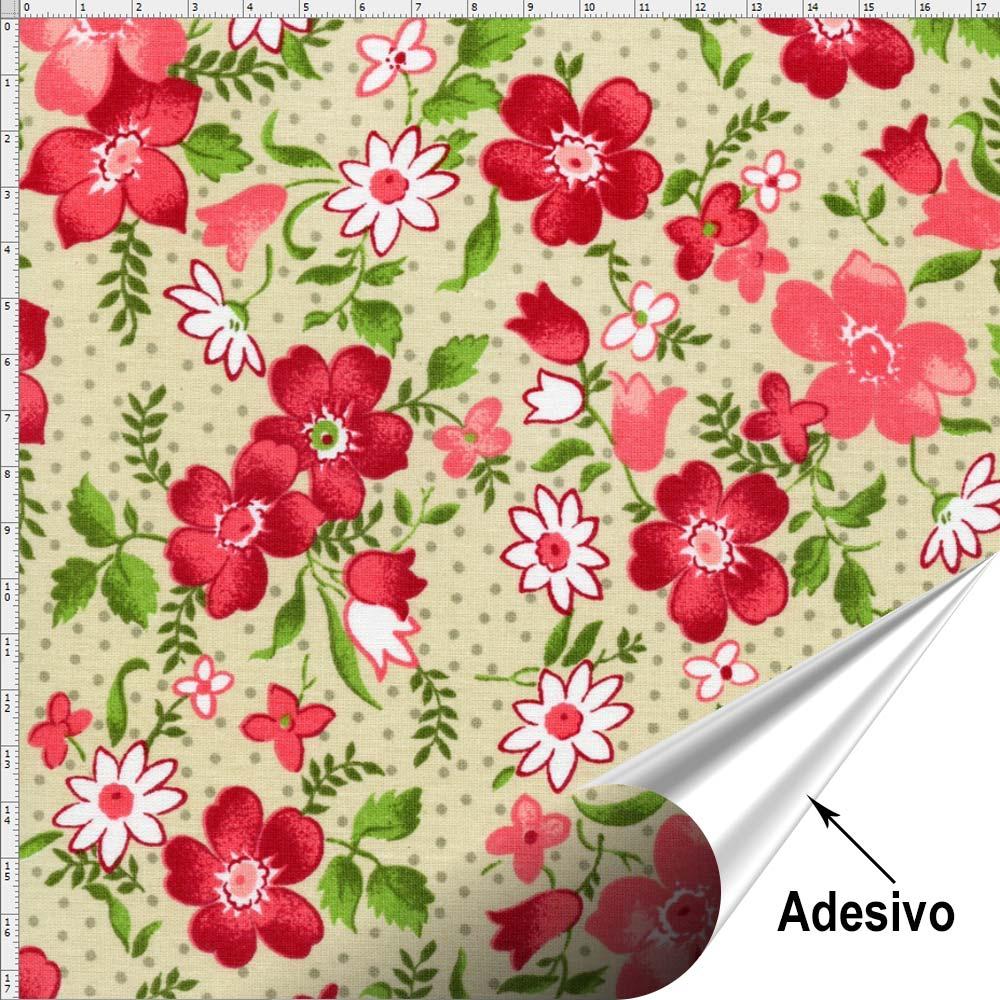 Armarios De Quarto De Solteiro ~ Tecido Adesivo para Patchwork Flor 041 (45×70) Bazar Horizonte