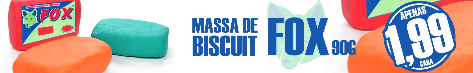 Massa de Biscuit Fox 90g R$ 1,99