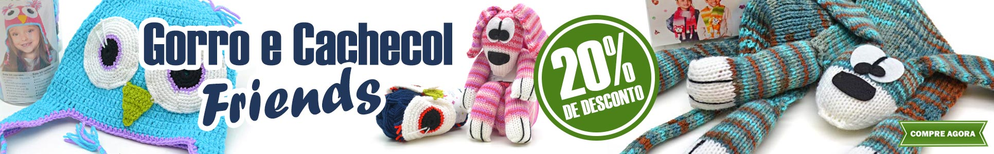 Gorro e Cachecol Friends 20% OFF
