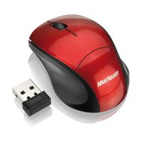 Mouse Multilaser Sem Fio 2.4 Ghz Mini Fit Red Piano Nano USB - MO150