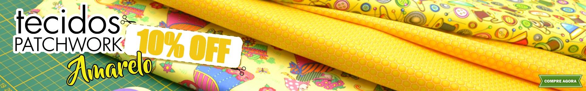 Tecidos Patch Amarelos 10% OFF