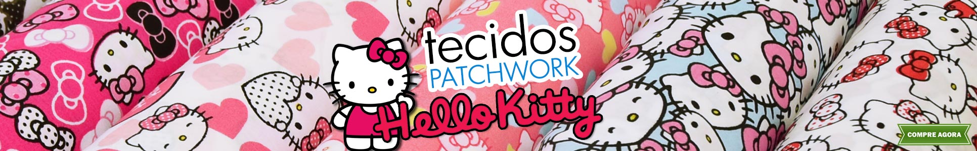 Tecidos Patch Hello Kitty