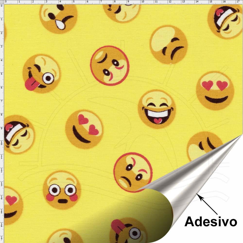 Aparador Azul Turquesa Mdf ~ Tecido Adesivo para Patchwork Emoji 001 (45×70) Bazar Horizonte