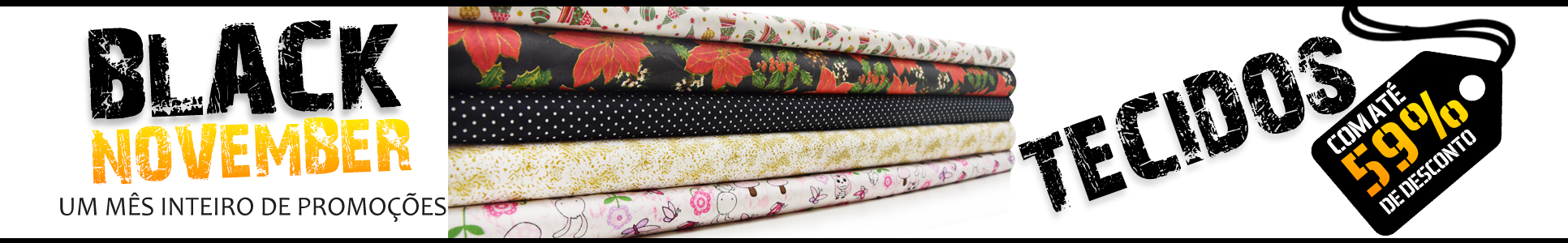 Black November Tecidos Para Patchwork