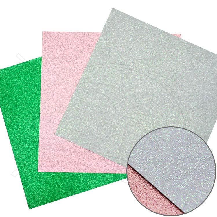 Folha para Scrapbook - Glitter 2 unid.