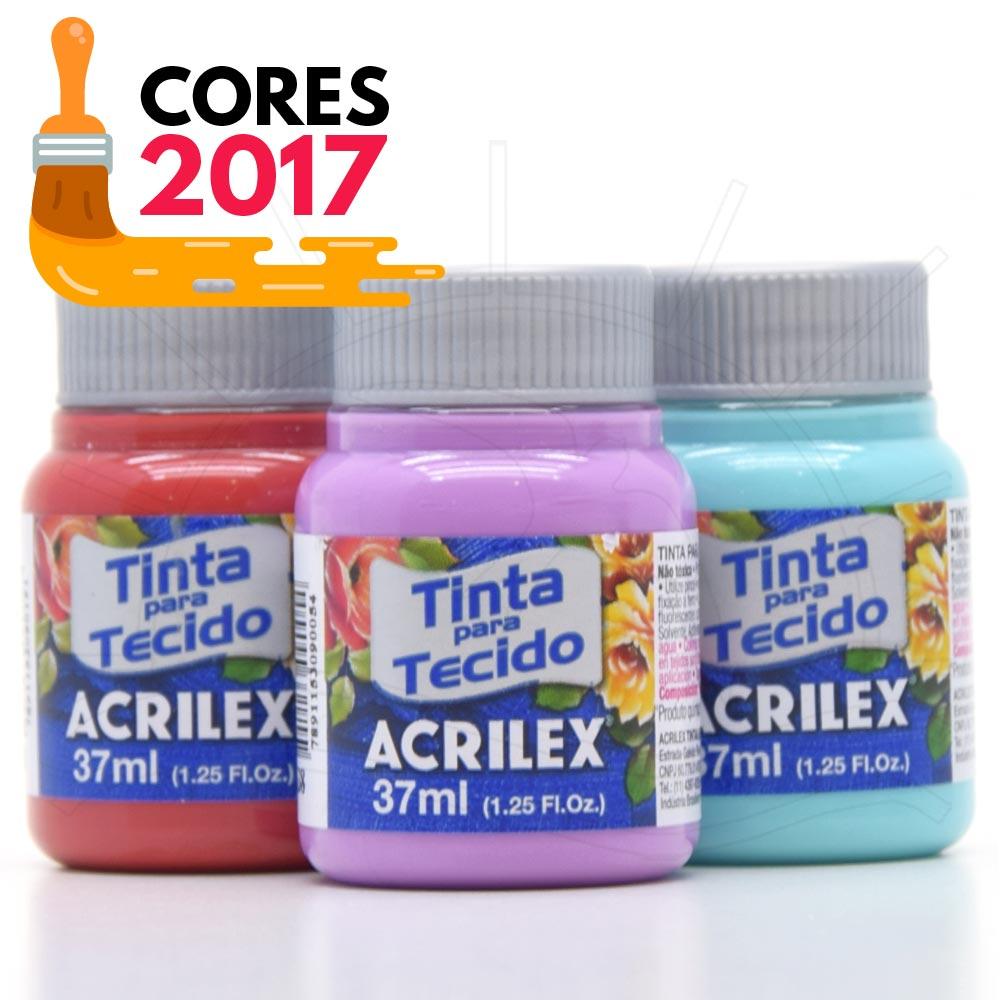 Tinta para Tecido Acrilex Fosca 37ml - Cores 2017