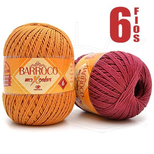 c04a2b0496f5d Barroco MaxColor nº06 400g em + de 50 Cores e o Menor Preço - Bazar ...