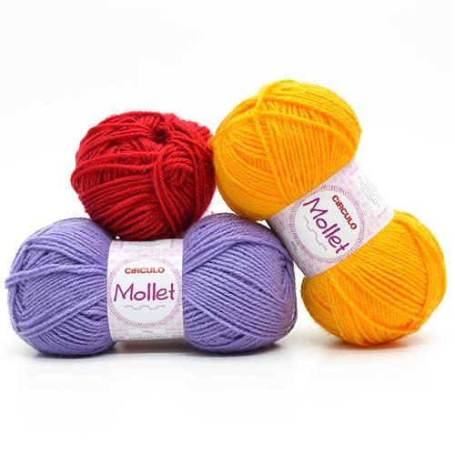 a3f242549 Lã Mollet Círculo 100g | Todas as Cores pelo Menor Preço - Bazar ...