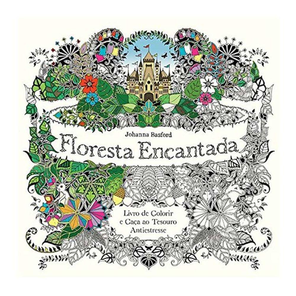 Livro Floresta Encantada Por Johanna Basford Bazar Horizonte