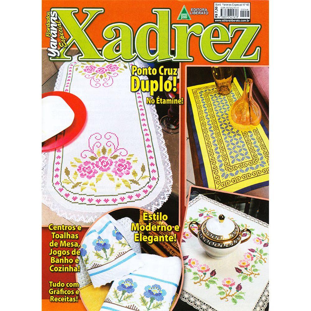 Revista Bordado Xadrez Ed Liberato N 48 Bazar Horizonte ~ Ponto Cruz Cozinha Moderna