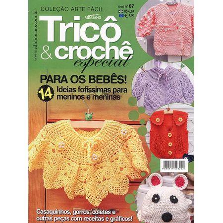 Revista Arte Fácil Tricô   Crochê Especial Ed. Minuano nº07 - Bazar ... 206c8d24dfc