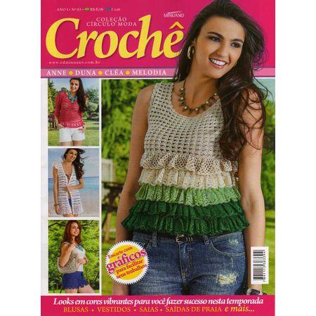 Revista Coleção Círculo Moda Crochê Ed. Minuano nº 03 - Bazar Horizonte 6dfc3414001