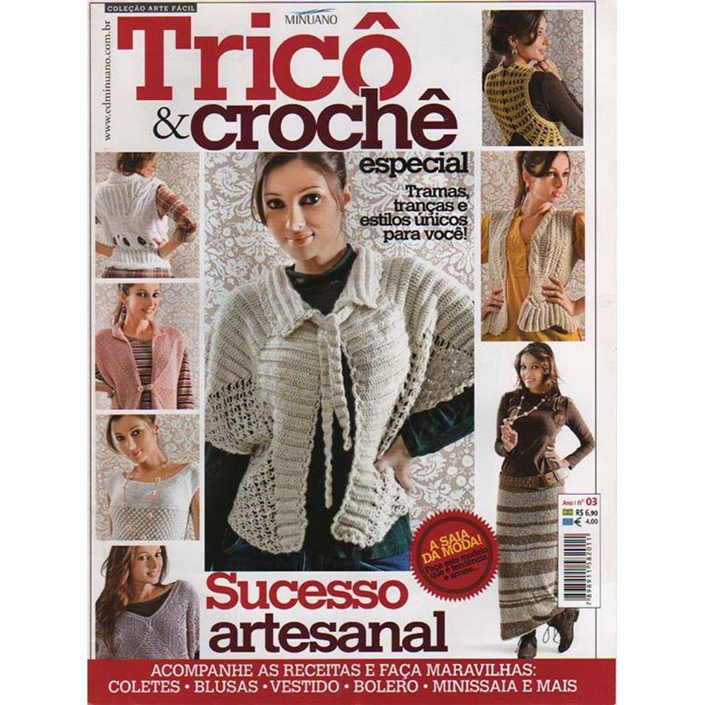 Revista Tricô   Crochê Especial Ed. Minuano nº03 - Bazar Horizonte f33ca26f75b