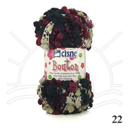 Fio Cisne Bouton 100g - Tricochetando b86763d7944