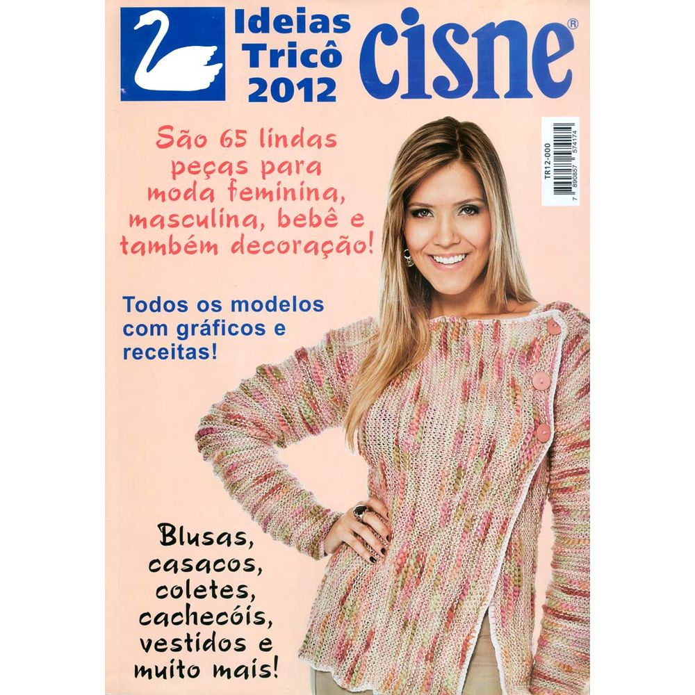 6da98d7050 Revista Ideias de Tricô Cisne 2012 - Bazar Horizonte