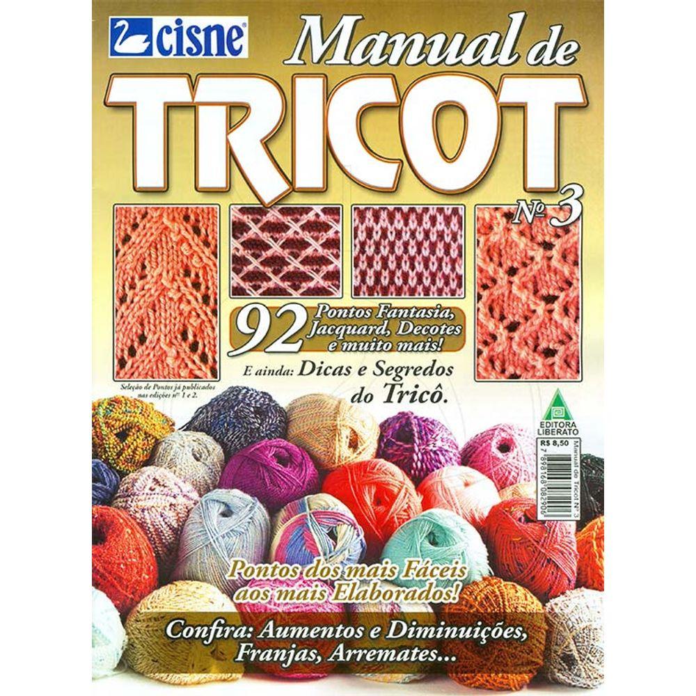 Revista Manual de Tricot Ed. Liberato nº 03 - Bazar Horizonte 418842459de