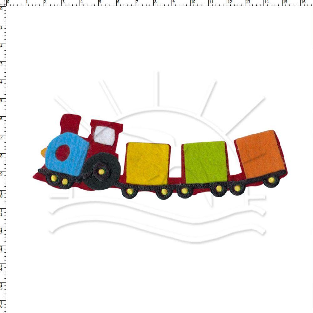 Aplicação Z Apliques Trem Feltro 62833 1 Unid Bazar Horizonte