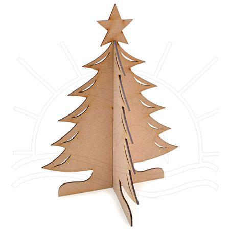 Mdf árvore De Natal Média 27x27x35 Bazar Horizonte