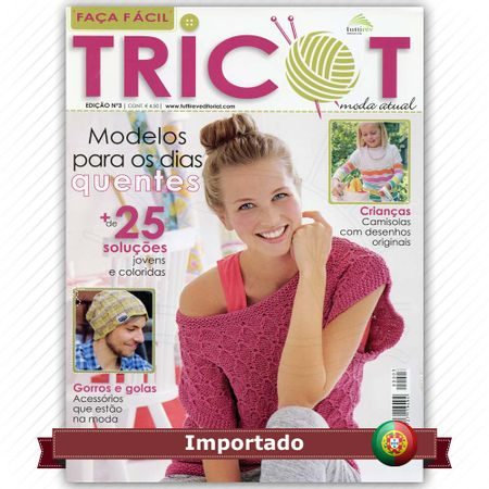 Revista Faça Fácil Tricot nº03 - Bazar Horizonte 037c6e18870