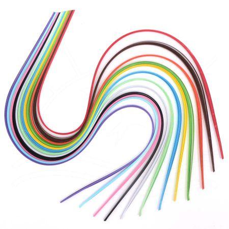 Kit Papel para Quilling com 120 Tiras Coloridas - Bazar Horizonte