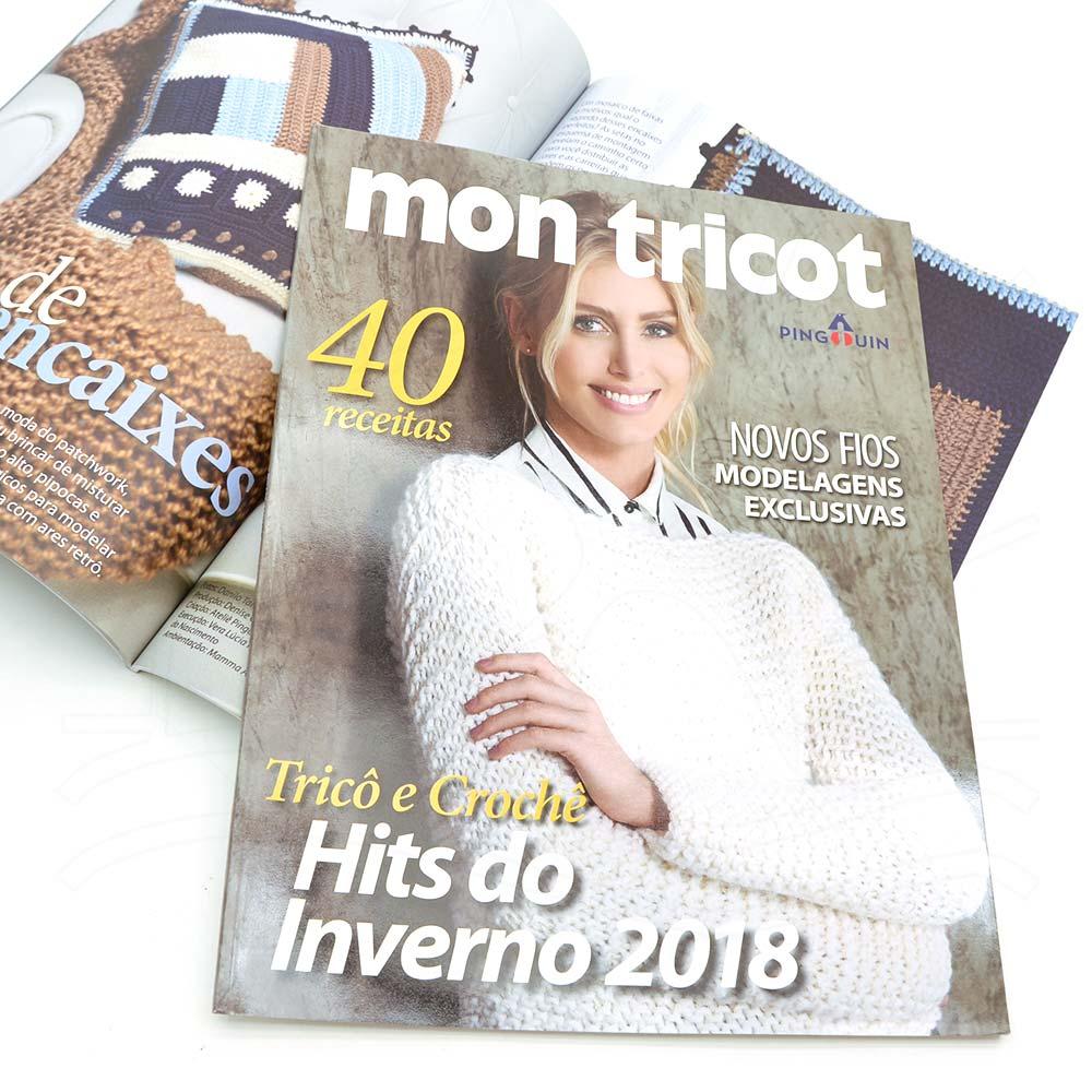 Revista Mon Tricot Pingouin 2018 - Bazar Horizonte 508a552aa71