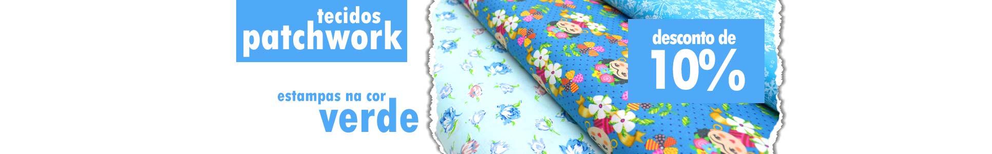 Tecidos Patch Azul 10% OFF
