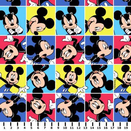 Tecido Mickey Mouse Multicor