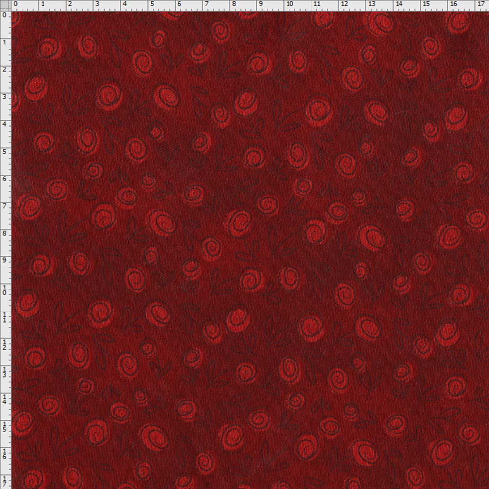 6fc5b3025d Tecido Estampado para Patchwork - Floral Doodle Sangue (0,50x1,40). ( Fabricart)