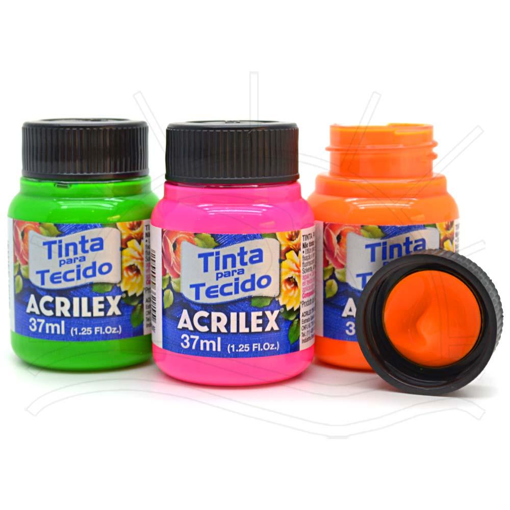 b4d100cea4 Tinta para Tecido Acrilex Fluorescente 37ml